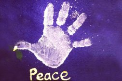 Hand-Printed-Dove-For-Peace